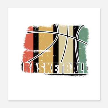 Féminin Basketball Retro Basket-ball Vintage - Poster