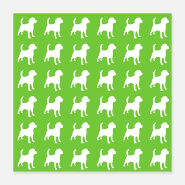 Pattern with dog - Poster