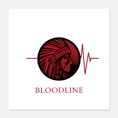 Native native blood red - Poster