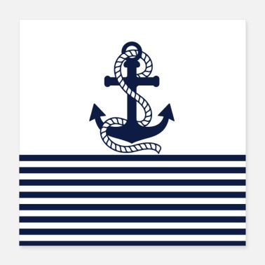 Navy Navy and blue anchor - Poster