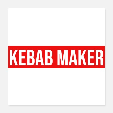 Make kebab maker snabbmat catering specialitet - Poster