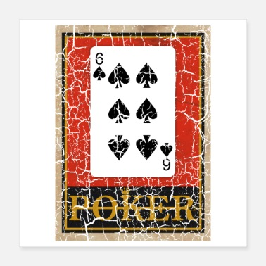 Passionate SIX OF SPADES POKER PLAYING CARD GAME - Poster