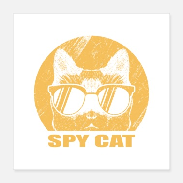 Spy Cat Lovers Gifts, Spy Cat Retro - Poster