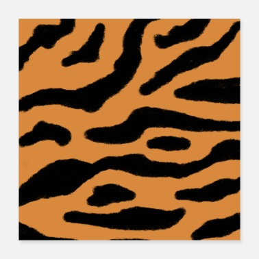 Attraktive Animal Print Safari svartbrun siena - Poster