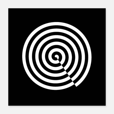 Decepticon optical illusion snail pattern black and white - Poster