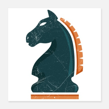 Templar Chess knight horse chess player gift idea - Poster