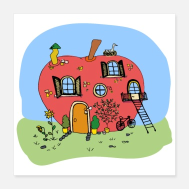 Fairy Tale Figure apple house - Poster