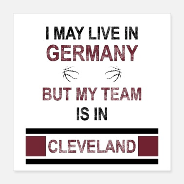 Cleveland My team is in Cleveland | Cavalier's fan design - Poster
