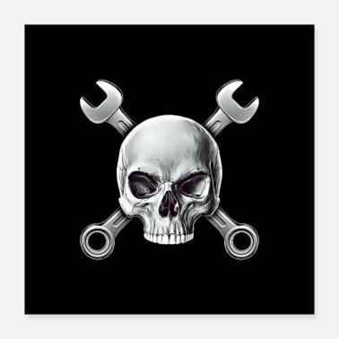 Hobbyists Screwdriver skull - Poster