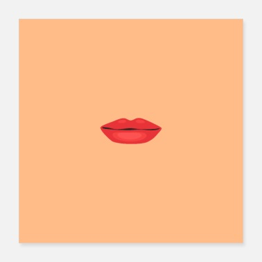 Lipstick Mouth with lipstick - Poster