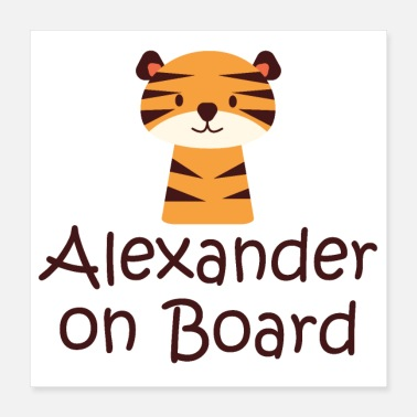 Boarder Alexander on board - Poster