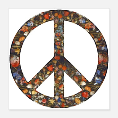 Peace Love Peace Peace Sign Vredesbeweging Icoon - Poster