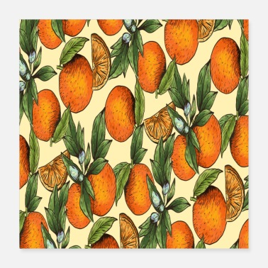 Orange Orange summer fruit oranges - Poster