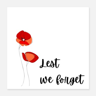 British Army Lest we forget - Poster