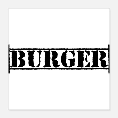 Fast Food Burger Fast Food schwarzer Text Fast Food - Poster