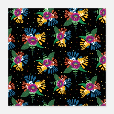 Floral Flowers watercolor floral floral pattern - Poster