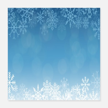 With Snowflakes Snowflake winter ice snowflakes - Poster
