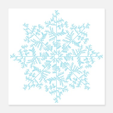 With Snowflakes Snowflake Drawn Unique Winter Sweater - Poster