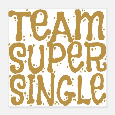 Singel Team Super Single (Gull) Singel Gave osv - Poster