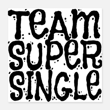 Single Team Super Single (Black) Single Gift enz - Poster