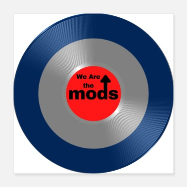 Northern Soul WE ARE THE MODS - retro 60's Print - Poster