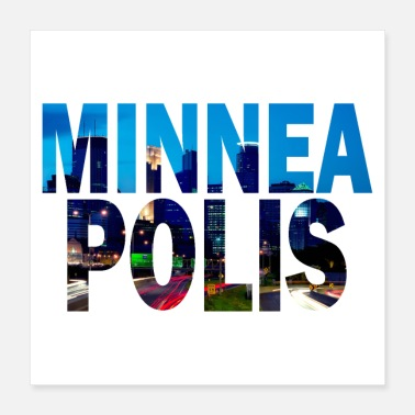 Minnesota Minneapolis Minnesota stadsgezicht - Poster