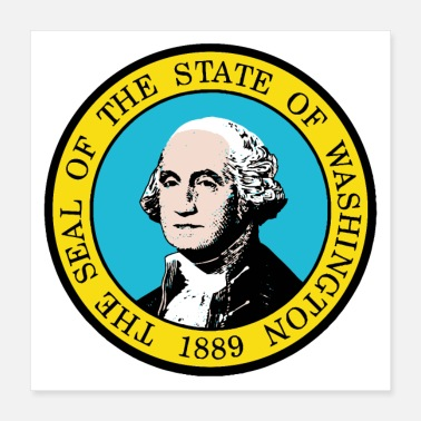 Staten Washington State Seal - Poster