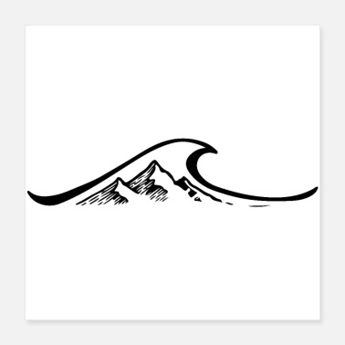 I Love Volleyball Wave, mountains, surfing, hiking, traveling & mountaineering - Poster