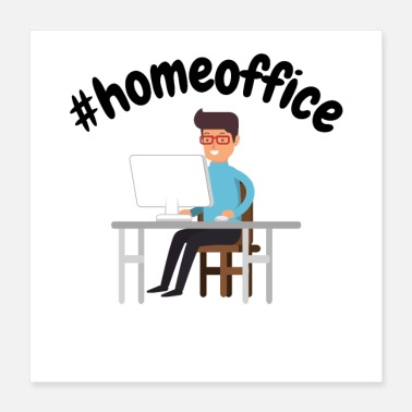 Occupy #homeoffice - Corona-overhemden - Office Home - Poster