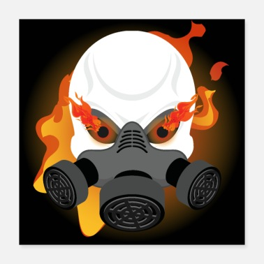 Gas Gas Mask Skull - Poster