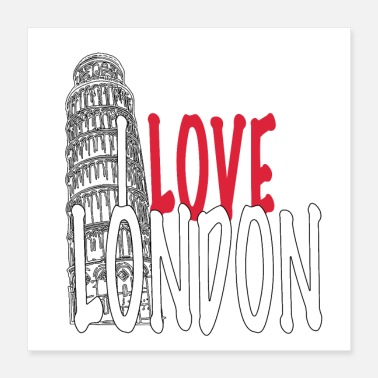 Geografie I LOVE LONDON -Funny Collection LOVE Pisa - Poster