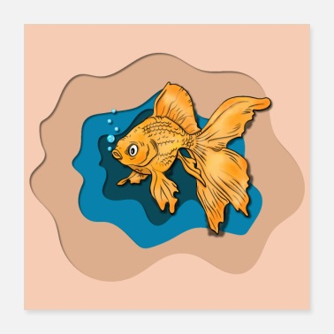 Aquarium Fisch, Goldfisch, Betta. Aquarium, GOLDFISCH - Poster