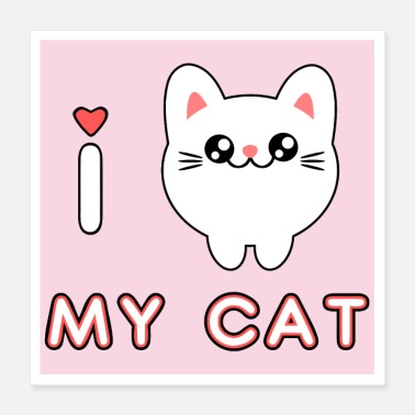 Kawaii Mignon chaton adorable chaton kawaii - Poster
