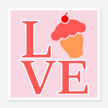 Panettiere Muffin Love Cupcake Love - Poster