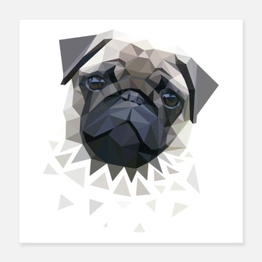Search Dog pug - Poster