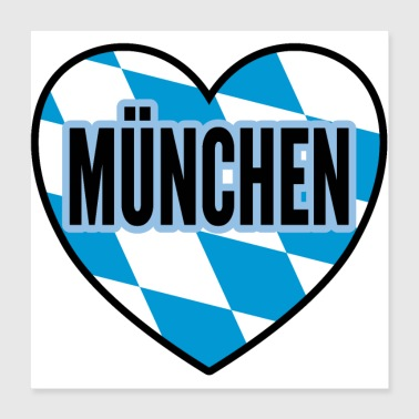 By München by gave - Poster 40x40 cm