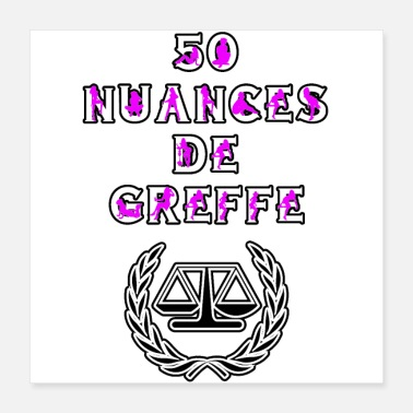Court 50 NUANCES OF GRAFTING - WORDS OF WORDS - Poster 40x40 cm