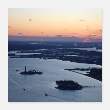 Statue Of Liberty new york at sunset statue of liberty - Poster 40x40 cm