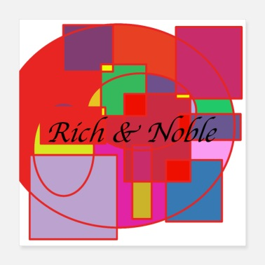Wealth Design rich and noble - Poster 40x40 cm