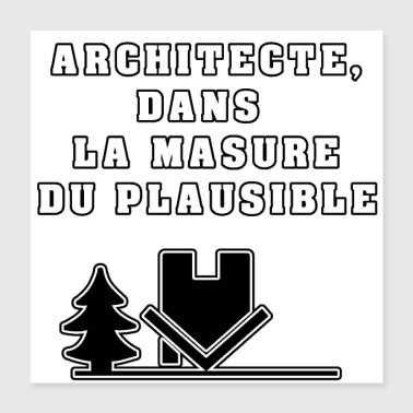 Mask ARCHITECT, IN THE MASK OF THE PLAUSIBLE - Poster 40x40 cm