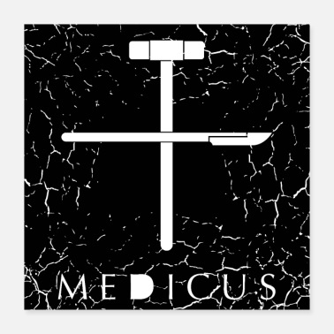 Occupation Medicus + Grunge - Poster 40x40 cm