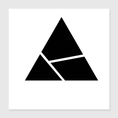 Triangle Design - Cut Triangle - Poster 40 x 40 cm