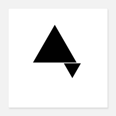 Triangle Triangles in minimalist double triangle design. - Poster 40x40 cm