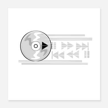 Audio Music play CP - Poster 40x40 cm