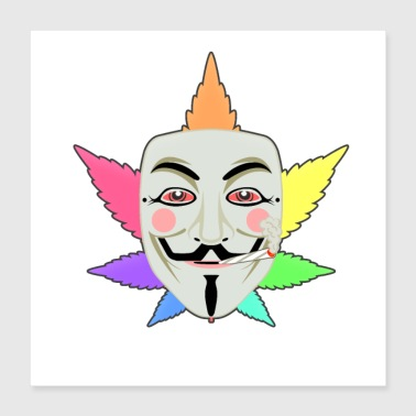 Anonymous Regenbogen High Anonymous - Poster 40x40 cm