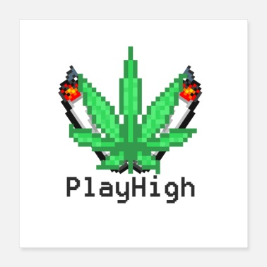 Playing Play High - Poster 40x40 cm
