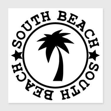 SOUTH BEACH (b) - Poster 40x40 cm
