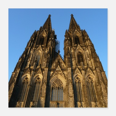 Index.php Cologne Cathedral on the day, poster - Poster 40x40 cm