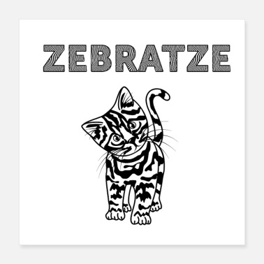 Skin The ZEBRATZE cat with zebra skin - Poster
