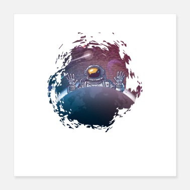 Gift Astronaut Space Gift - Poster 40x40 cm